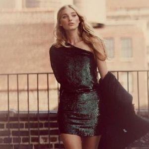 Haute Hippie Green One Sequined Dress